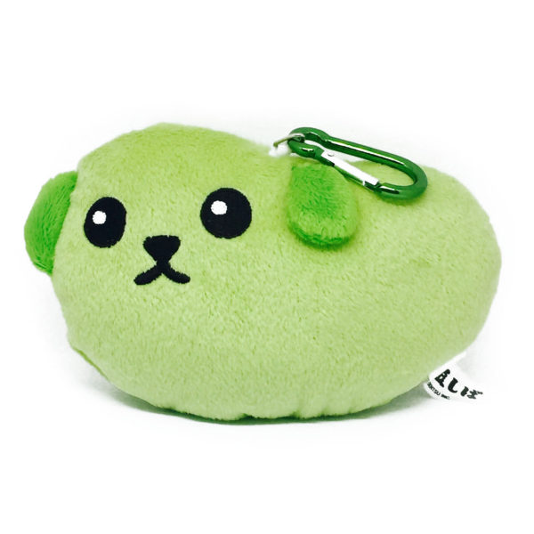 Mameshiba Plush Green Bean Mascot Pass Case / Mascot *Edamame Shiba