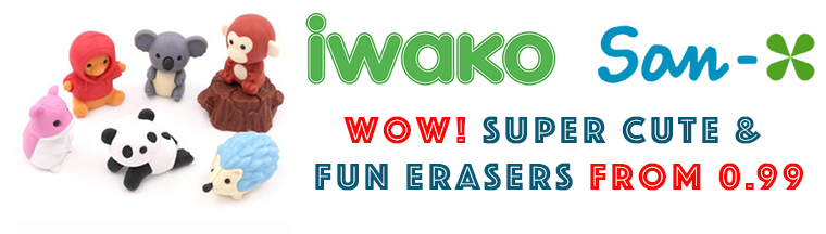 Shop San-X Erasers and Iwako Erasers