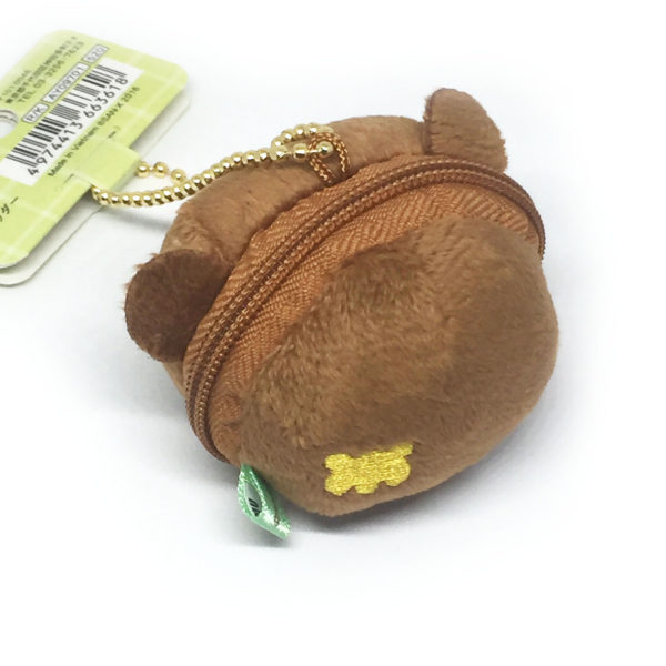 Kogumachan bear small plush bag charm with pouch