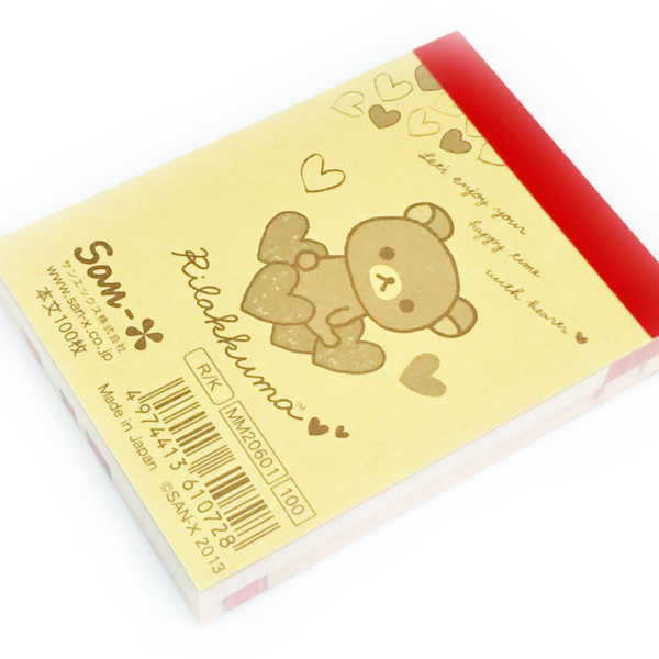 Rilakkuma chick hearts Mini Memo Pad San-X
