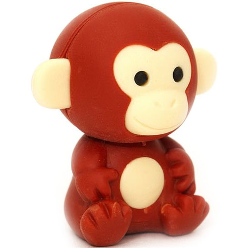 brown monkey iwako eraser