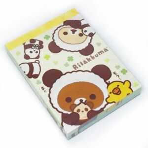 Rilakkuma Dressed as a Panda Memo Pad by San-X