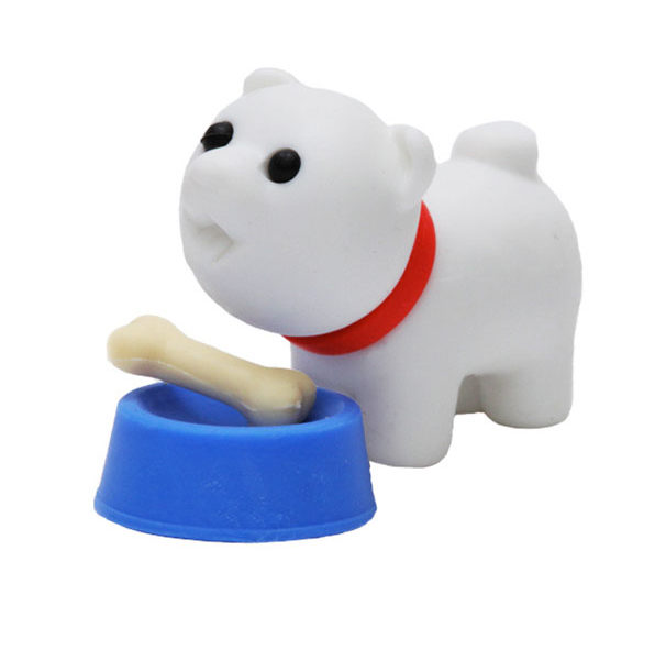 iwako dog with bowl and bone eraser