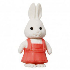 White rabbit in pink dress iwako eraser