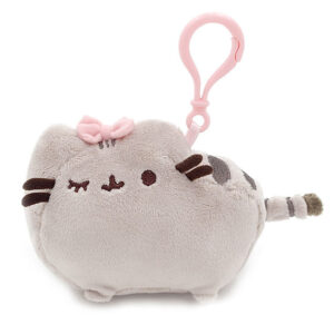 Pusheen Cute Pink Bow Plush Bag Clip