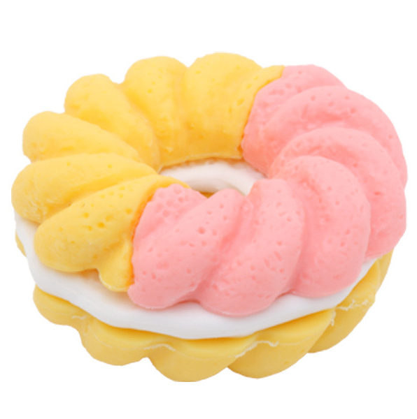 Pink and Yellow Doughnut Iwako Eraser