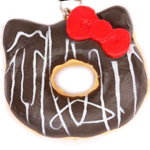 Hello Kitty Squishy Donut Charm
