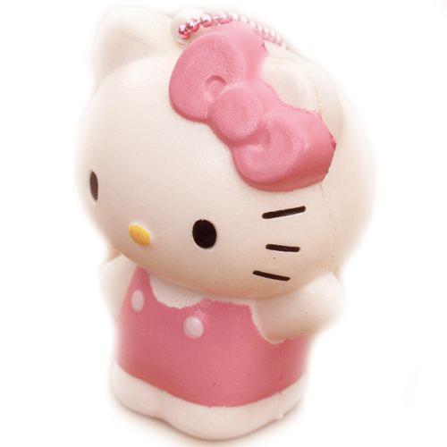 cute Hello Kitty squishy charm pink ribbon