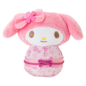 My Melody Odori Doll wearing a gorgeous cherry coloured kimono