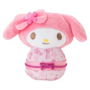 My Melody Odori Doll wearing a gorgeous cherry coloured kimono