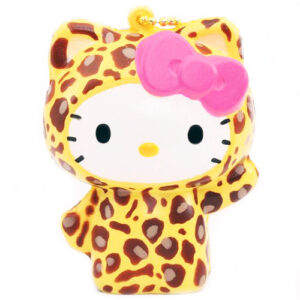 Yellow Leopard Hello Kitty Squishy Charm