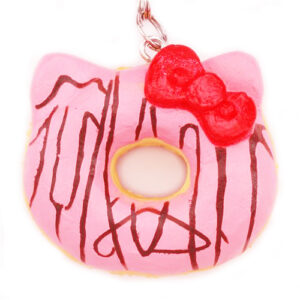 Small Pink Hello Kitty Donut Squishy Charm